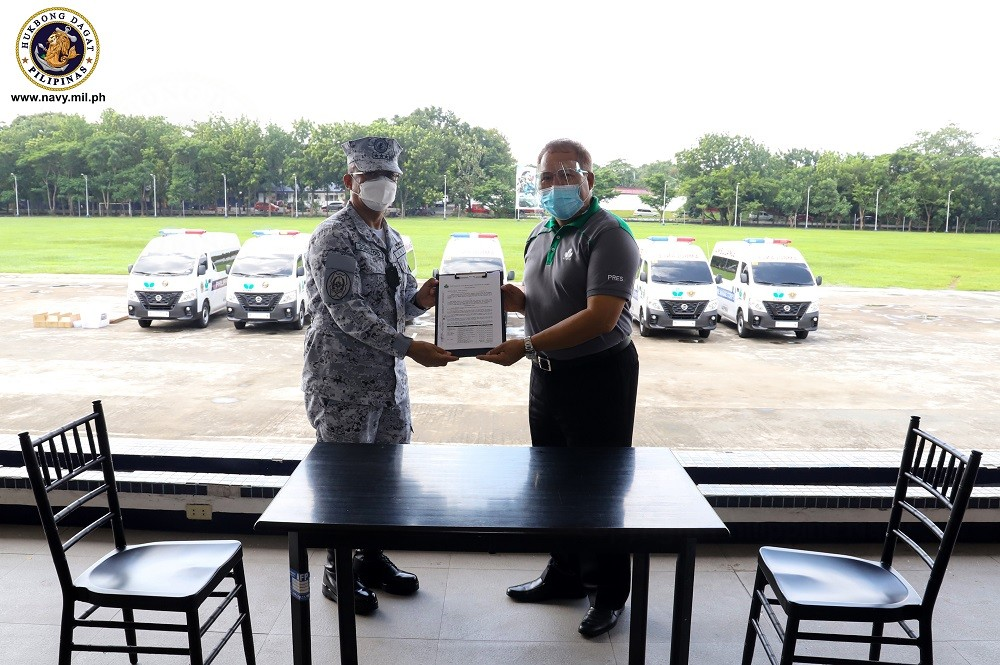 Image Title: Navy receives COVID-19 response capability donations from AFPMBAI