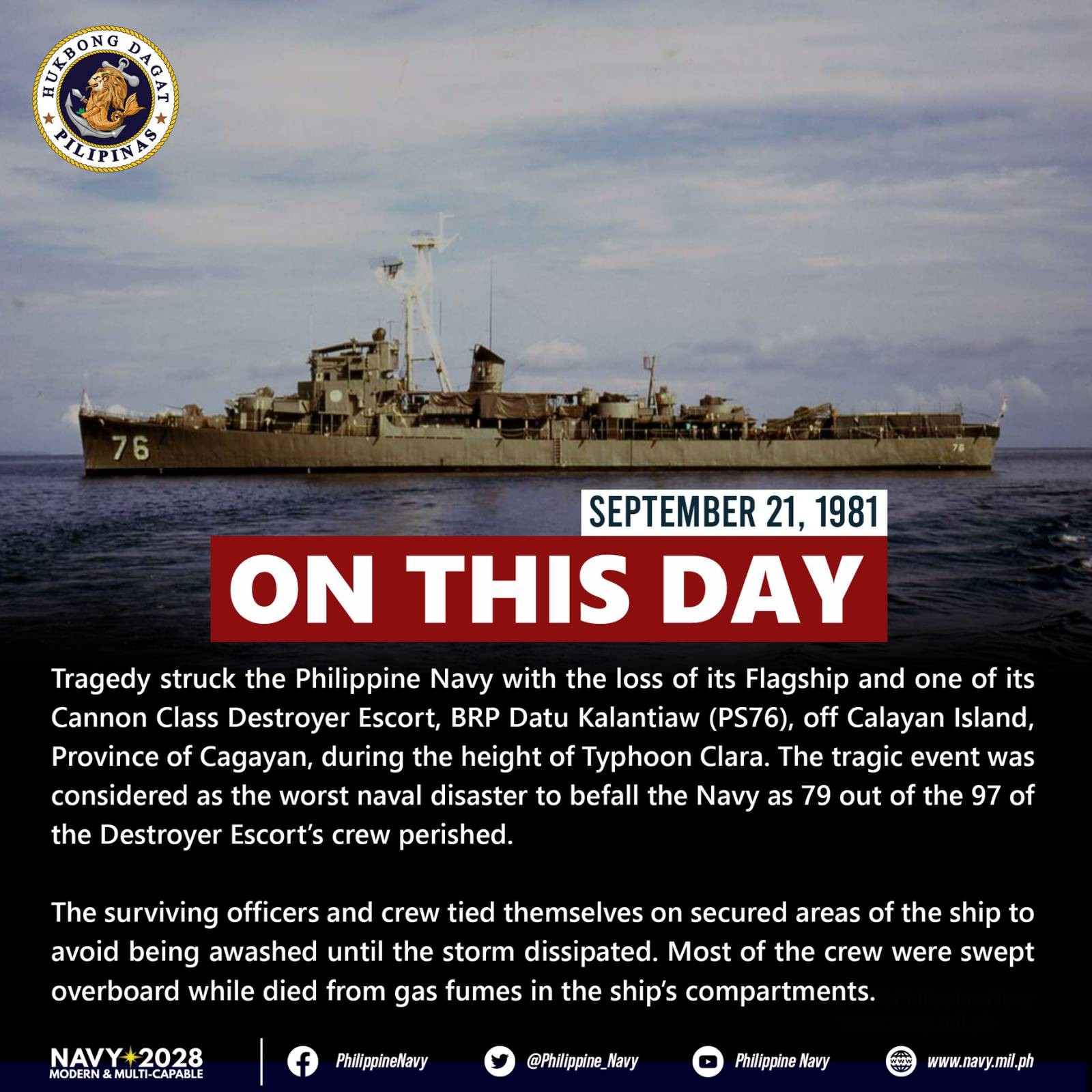 Image Title: The Tragedy of BRP Datu Kalantiaw (PS-76)