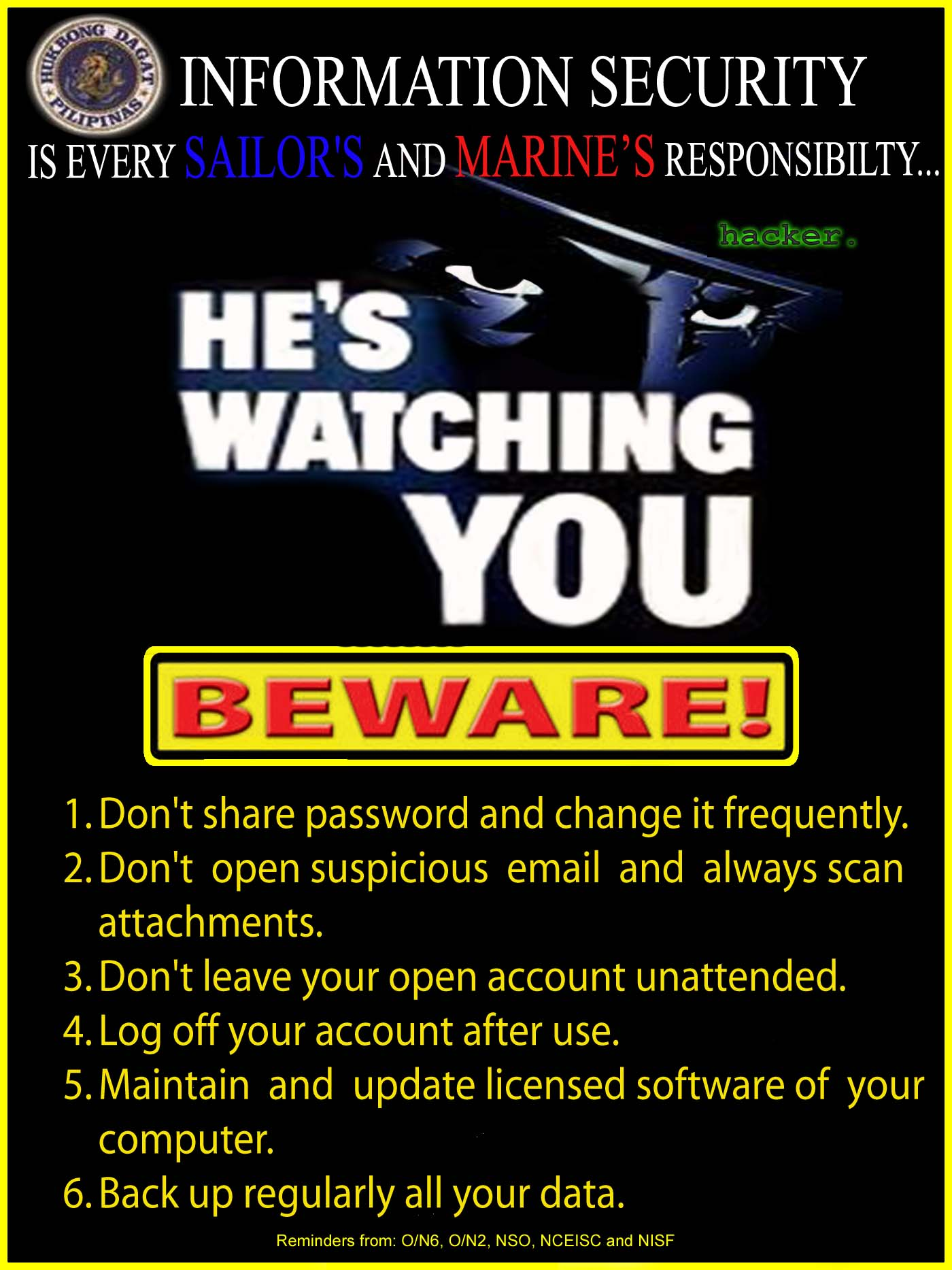 Funny Information Security Awareness Posters